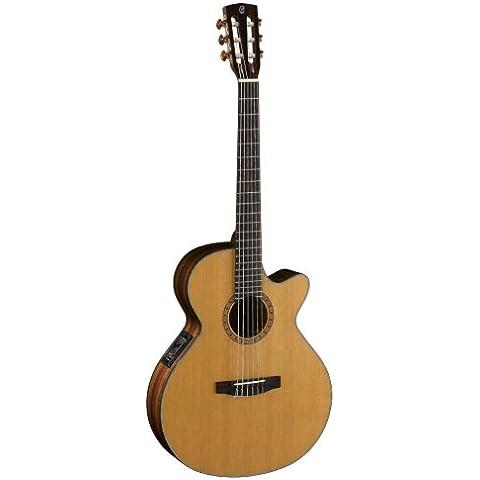 Cort cec7nat Natural Gloss electroacústica Guitarra acústica folk S Nylon de cuerdas