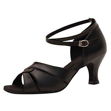 Scarpe da ballo-Personalizzabile-Da donna-Balli latino-americani / Jazz / Salsa / Scarpe da swing-Tacco su misura-Finta pelle / Black