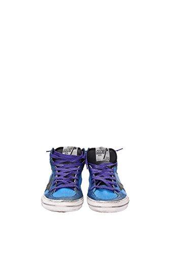 G26D129E7 Golden Goose Sneakers Femme Cuir Bleu Bleu
