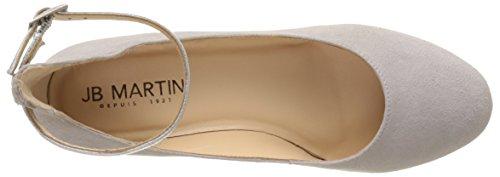 Jb Martin 1galine E17, Ballerines Bride Cheville Femme Gris (Ch Vel Perle/Ch Brazil Silver)