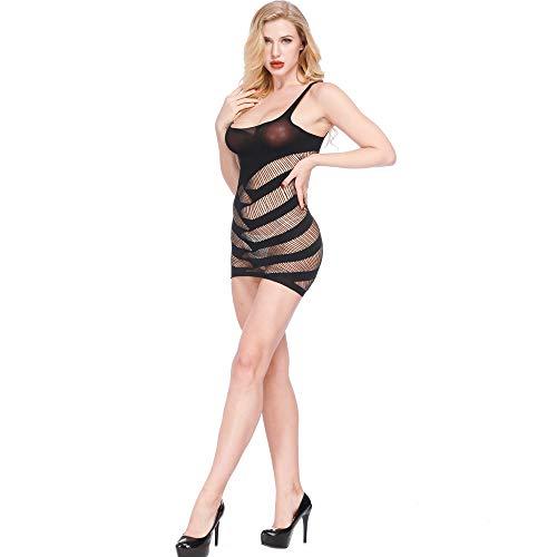 Strung Freiheit Sexy Dessous Mesh Hohl Baby Doll Kleid Erotische Frauen Unterwäsche Nachtwäsche Spitzenkleid G-String Set