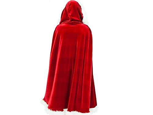 eihnachten Kostüme Lange Umhang Masquerade Cape für Erwachsene (dunkelrot) für Weihnachten Deko Party Festen (Farbe : Dark Red, Größe : 130X120cm) ()