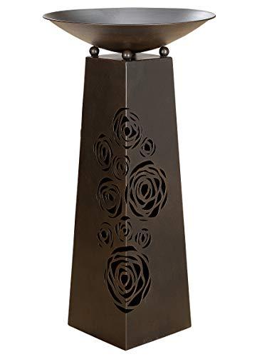 G.i.l.d.e Schalenständer m. Schale Rose Metall Dunkelbraun Schale Rosen