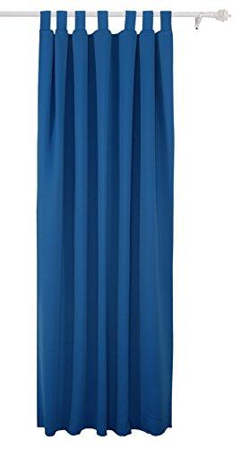 Deconovo Rideau Occultant à pattes 140x175cm Isolant Thermique pour Velux Bleu
