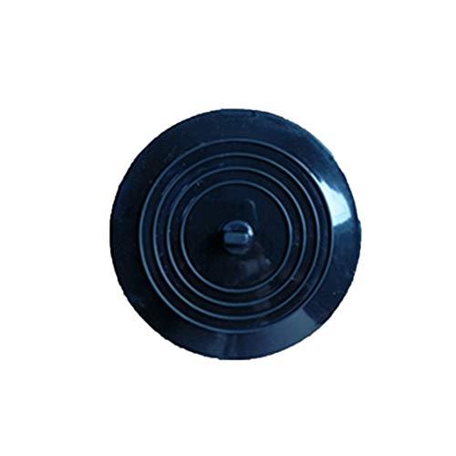 Vige Auslaufsicherer Wasserstopper Waschbecken Haarfänger Runder Silikonflacher Deckel Küchenablassschraube Universal - Schwarz