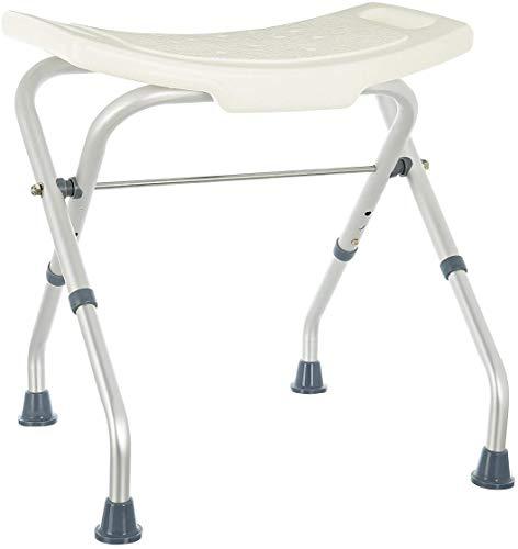 Rehab - Asiento de ducha plegable - Asiento de bañera, silla regulable en altura - Apoyo para ancianos