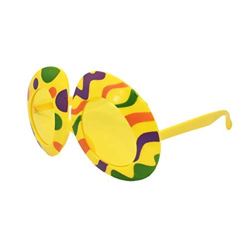 Amosfun Partybrille Osterei Form Lustig Neuheit Sonnenbrille Gläser Kostüm Gläser Fotorequisiten Kinder Ostern Party Gastgeschenk (Gelb)
