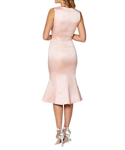 Victory Bridal Glamour Schwarz Satin Damen Abendkleider Ballkleider fuer Brautmutter Lang Etui Linie Rosa