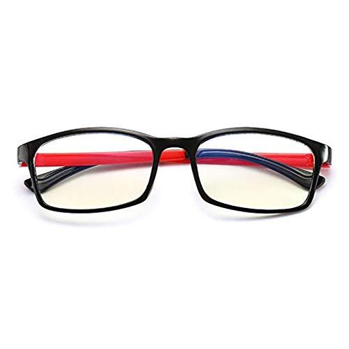 Glücklich zusammen Anti-Radiation-Brille für Männer und Frauen Computer Augenschutz Flugzeug Kein Grad Anti-Blue Fatigue Fatigue Myopie Play Handy Schutz Augen, Resin Anti-Blue Lens