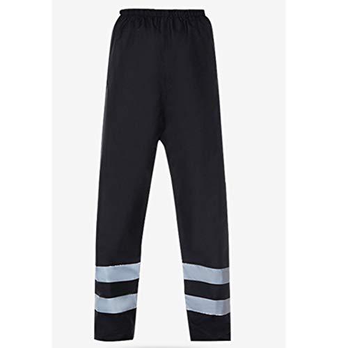 Pantalones Reflectantes de Alta Visibilidad Ropa de Trabajo Pantalones Impermeables Pantalones de Seguridad para Jardines de Montar al Aire Libre Oxford Cloth Black M-3XL,XL