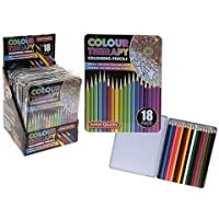 PMS Colour Therapy 18 Professional Pencil Crayons in TIN BX