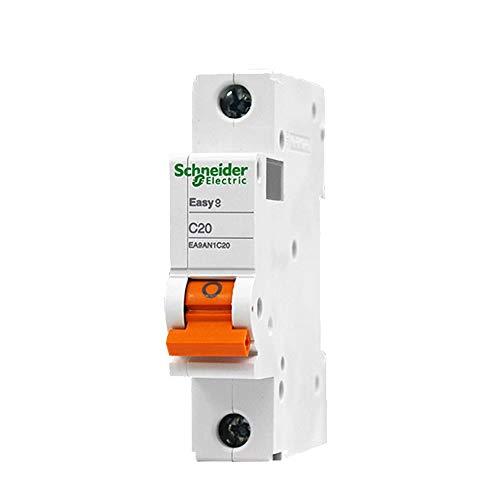 HNCIU Automatische Schalter Luftschalter Haushalt Miniatur-Leistungsschalter Single-Input Single-Out Vakuum Single Pole Open 1P C20A, 20A - Pole Leistungsschalter