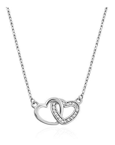 SOFIA MILANI Damen-Halskette Doppel Herz 925 Silber 50165