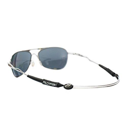 pilotfish kein Schwanz verstellbar Eyewear Retainer-Sonnenbrille Halter Gurt-Sonnenbrille Retainer, schwarz / grau