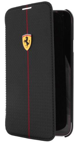 Ferrari Formula 1 Booktype Lederklappetui für Samsung Galaxy S5 schwarz