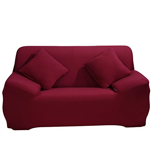 Stretch Loveseat Cover - Sofa Covers Slipcover Sofa - 1-St¨¹ck 1 2 3 4 Seater Furniture Protector Polyester Spandex Stoff Slipcover mit einer Kissenbezug f¨¹r Kinder und Haustiere Rot