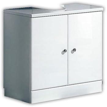 Turbo Pelipal 359 Piolo Waschbeckenunterschrank Holzdekor Weiß Hochglanz XW19
