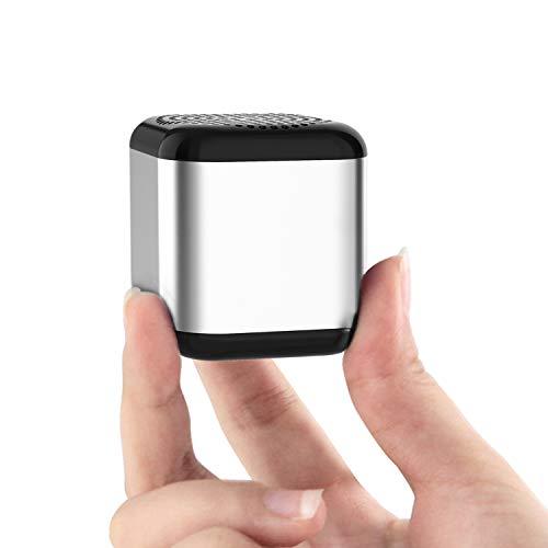 Eageroo Bluetooth Mini Lautsprecher tragbar Speaker,Stereo Klang mit tiefem Bass Technologie,TWS,schwarz (Silber)