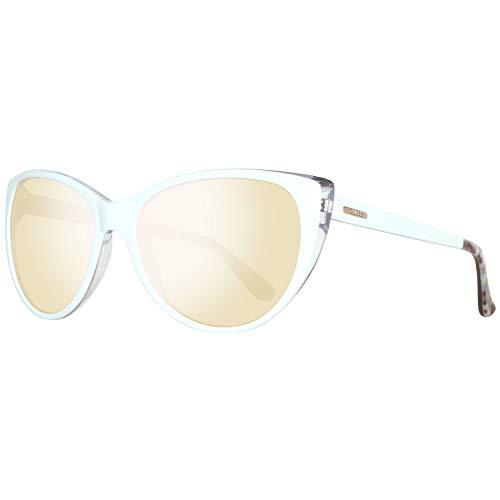 Guess Damen GU7427-5721C Sonnenbrille, Weiß (White), 57