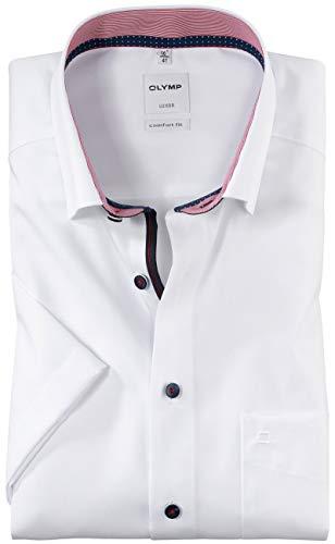 OLYMP Luxor Comfort fit Hemd Halbarm Under Button Down Kragen weiß Größe 44