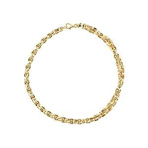 Etrusca Gioielli - Elegante Collana Donna Lucida intrecciata Placcata In Oro Giallo 18 carati, occasione regalo per donne di ogni età.