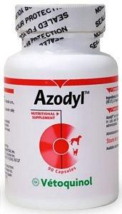 Vetoquinol Azodyl Suplemento Salud del Riñón para Perros y Gatos 90ct -Ayudar a apoyar la función del riñón y Administrar toxinas renales - Suplemento Renal Care - Fácil de tragar Caps Pequeña