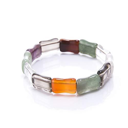 XIANNU Damen Armband,Trendy Naturstein Bead Armband Schmuck Stein Charms Kette Perlen Armbänder Schmuck für Frauen Freund Geschenk