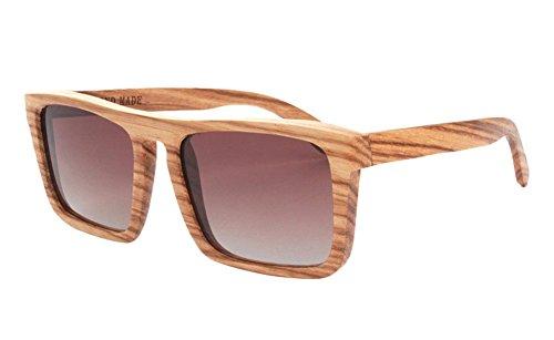 Insun Herren Sonnenbrille Gr. Einheitsgröße, Mehrfarbig - Wood Frame