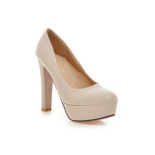 BalaMasa massiccio, da donna, antiscivolo, in gomma, motivo scarpe con tacco Beige