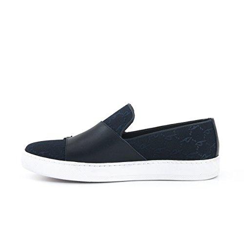 Herren Designer Sneaker Casual Schuh Low Top Design Alltag Freizeitschuh Plateau, Angenehm Leicht mit Schnalle Marineblau
