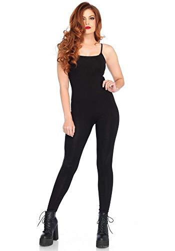uit für Damen-Kostüme von Leg Avenue Kostüm-Zubehör Jumpsuit Overall, Farbe:Schwarz, Größe:M/L ()