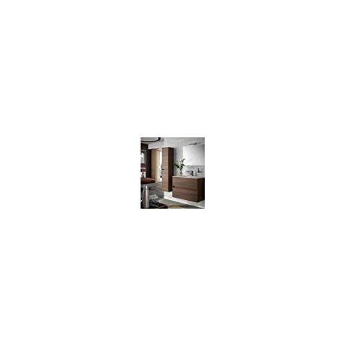 Salgar noja 900 - Mueble noja 900/acacia marron +lavabo porcelana