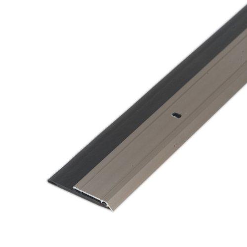 M-d Produkte 36in. Satin Nickel Heavy Duty Aluminum & Vinyl T-r Sweep 48996 -