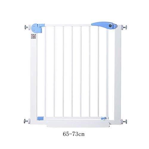 FMEZY Laufstall Pressure Fit Schutzgitter für Baby Pet Gate  Sicherheitstor Für Treppen  Sicherheitszaun (Größe: 65-73cm) (Große Pet-gate)