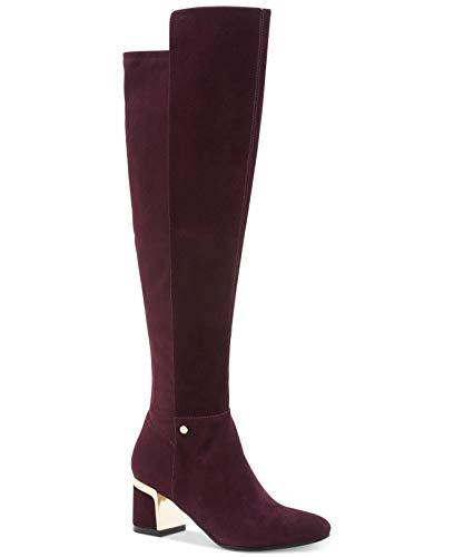 DKNY Frauen Cora Geschlossener Zeh Leder Fashion Stiefel Lila Groesse 7 US /38 EU