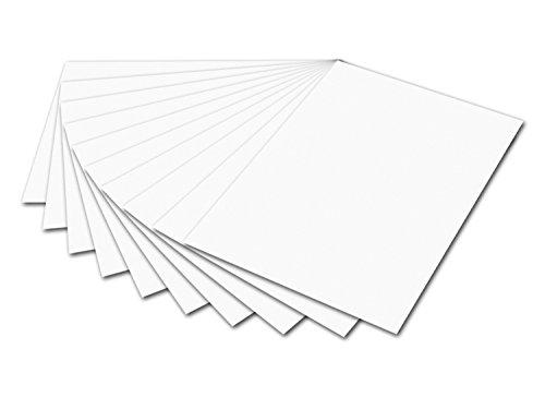 folia 6100 Fotokarton (50 x 70 cm, 300g, 10 Bogen) weiß