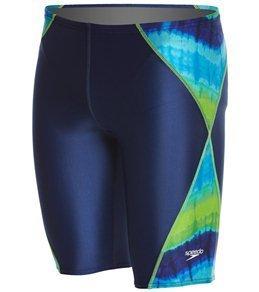 Speedo Print contourback einteiliger Anzug weiblich, blau/grün
