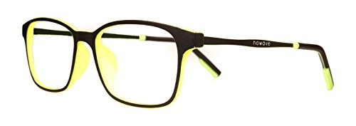 NOWAVE Neutralbrille für PC, Tablet, Smartphone, TV und Gaming. Beseitigt Ermüdung und Reizung der Augen. Ultra-leichtes Metallgestell. Accessoire für Büro und Schule/ Studium. Entspannende Brille mit 40% Schutz vor blauem Licht und 100%-igem UV-Schutz. PC-Bildschirm-Filter. ITALIAN STYLE 2017 - ZEN (Ophthalmische Linsen)