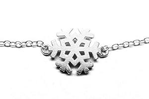 pretty_awesome Armband 925 Silber Schneeflocke Schnee Winter Weihnachten