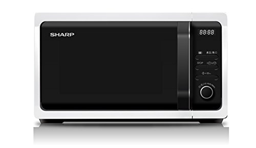 Sharp Home Appliances R-243W Encimera Solo – Microondas (Encimera, Solo microondas, 20 L, 800 W, Botones, Giratorio, Color blanco)