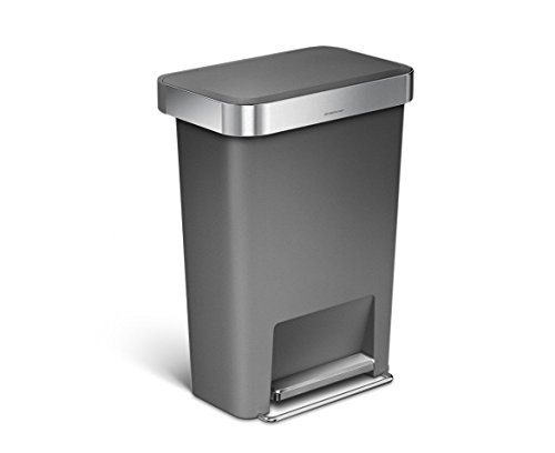 Simple Human CW1386CB 45L Liner Pocket Bin, Plastique, Gris, 32 x 47 x 63,5 cm