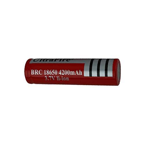 Yue668 10Pcs 3,7 V 4200 mAh Wiederaufladbare Lithium Batterie Batterien Akkus für Taschenlampe Nachtlicht - 18650 Lithium-batterie