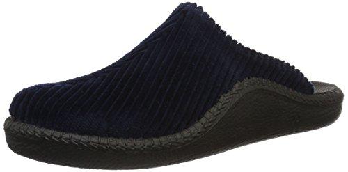Romika Herren Mokasso 220 Pantoffeln, (blau), 44 EU