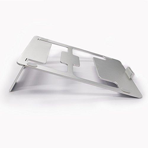 Notebookständer Laptop-Stand-faltbarer Notizbuch-Stand-Aluminiumlegierung Gekippte Belüftete Laptop-Computer-Stände Mit Leichtem Platzsparen Laptop-Behälter-Desktop-Stand Für Laptops Bis Zu 17 Zoll