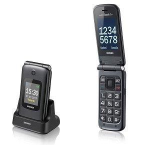 Brondi amico grande 2 lcd - cellulare con doppio display, funzione vedi e chiama, nero