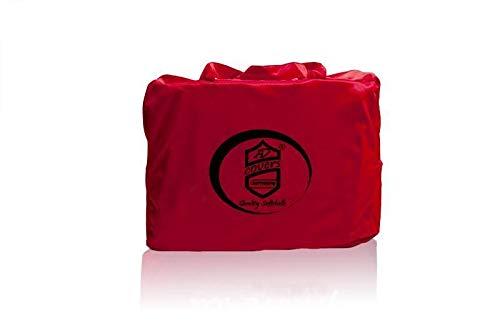 Vollgarage Mikrokontur® Rot für Fiat 124 Spider, schützende Autoabdeckung mit perfekter Passform, hochwertige Abdeckplane als praktische Auto-Vollgarage