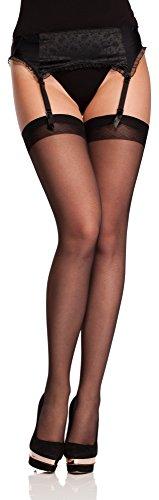 Antie calze per reggicalze donna o 4006 20 den (nero, l (taglia produttore: 4)