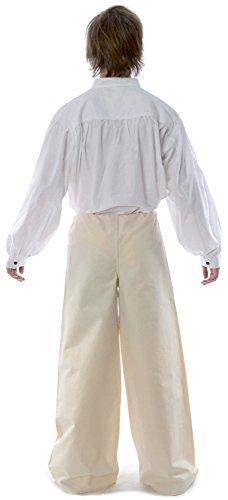 HEMAD Schnürhose S-XXXL schwarz, blau, rot, grün, braun, beige, weiß - Herren Mittelalter Hose reine Baumwolle Beige