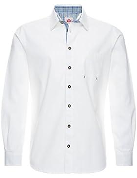 Spieth & Wensky Herren Hemd Föhrden Normal Fit Weiß