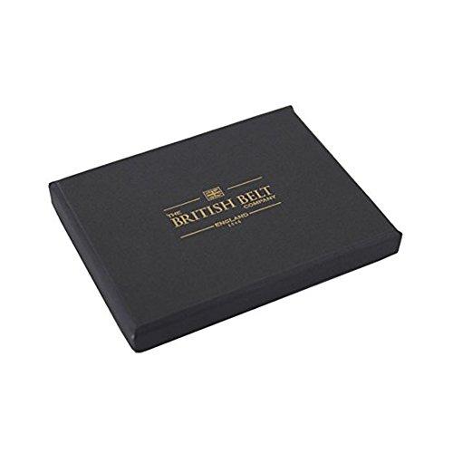 lanlay 100% echtem Leder Geldbörse, 8Kreditkartenfächer und Taschen Schwarz